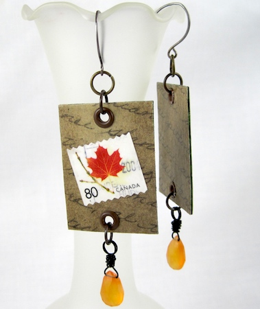 Postage stamp earrings tutorial