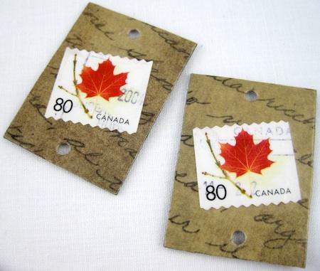 making postage stamp jewelry