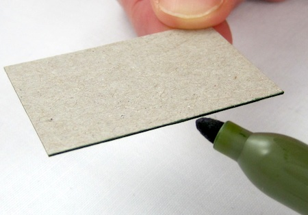 color the cardboard edges with a Sharpie