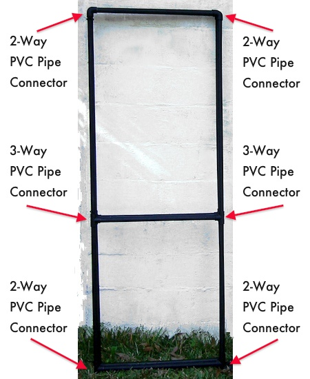 PVC Pipe Jewelry Display Frame