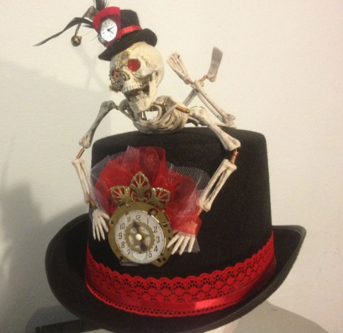 Steampunk Skeleton Top Hat by Roz Asquith