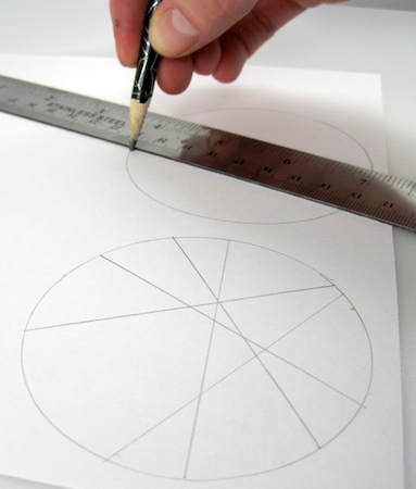 "draw straight lines for the ""leading"" in your stained glass designs"