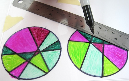 "designing ""stained glass"" shrink plastic earrings"