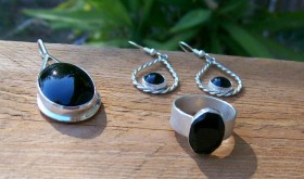 Black Onyx and Sterling