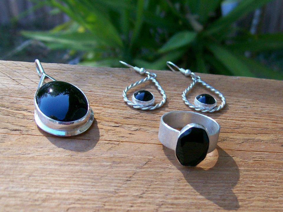 Onyx Jewelry Set