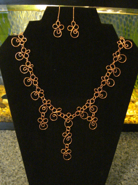 Handforged Copper Spirals