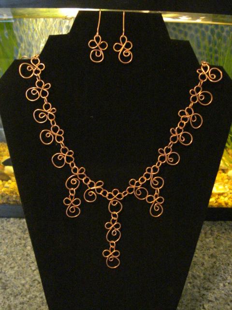 Handforged Copper Spirals