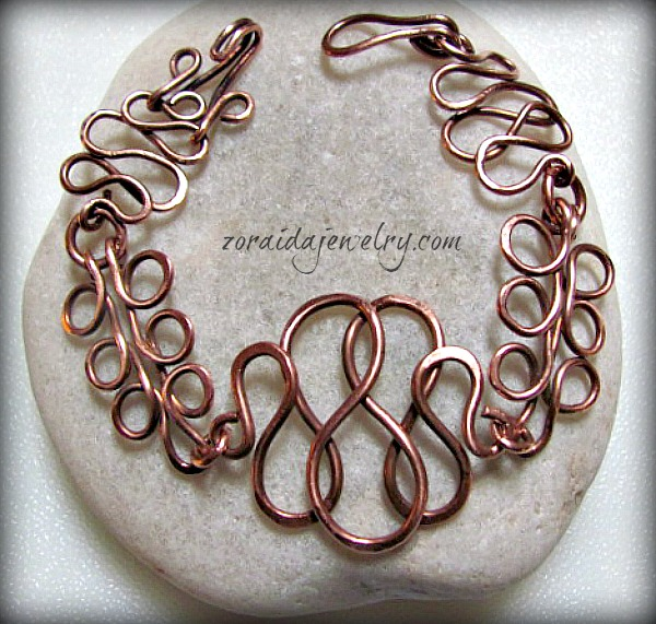 Ramen Noodles Copper Bracelet