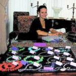 AnnaLea sets up for one of her jewelry parties.