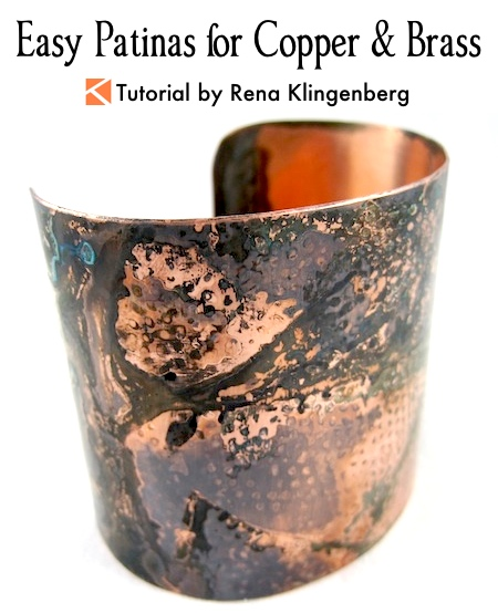 Easy Patina Finishes for Copper and Brass Tutorial by Rena Klingenberg