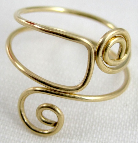 easy folded wire ring tutorial jewelry making journal