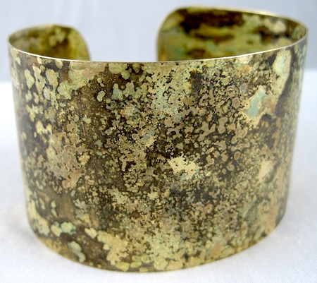 Patina finishes - brass rustic cuff bracelet by Rena Klingenberg