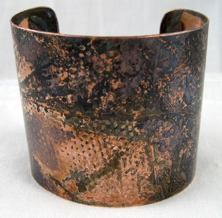 Rustic copper patina finish by Rena Klingenberg