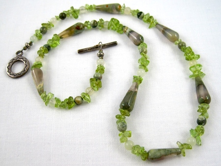 Peridot necklace by Rena Klingenberg
