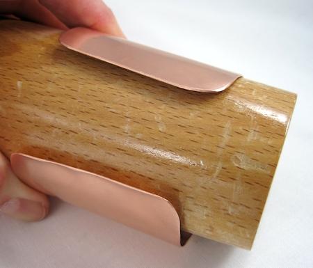 Forming the copper bracelet