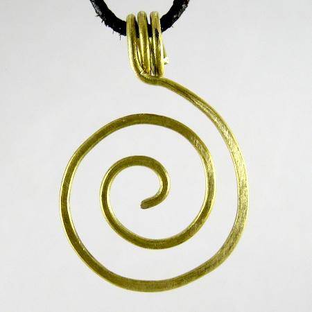 Brass Zen Spiral Pendant