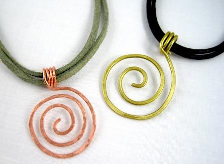 Zen Spiral Pendants by Rena Klingenberg