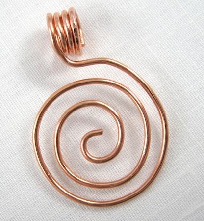 zen spiral wire pendant
