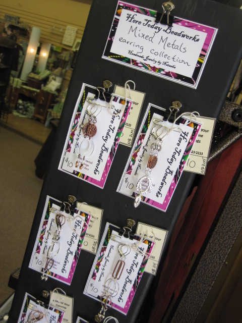 Bakers Rack Earring Display