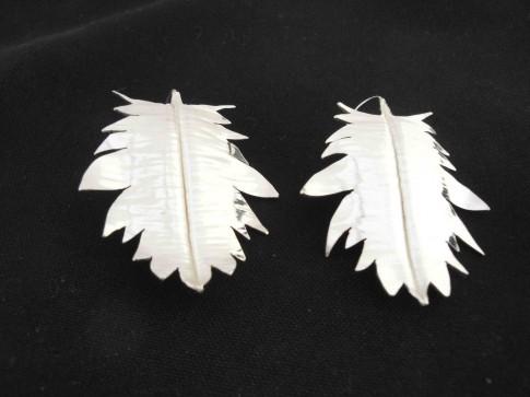 Foldform Metal Leaf Earrings - Christine O'Connell
