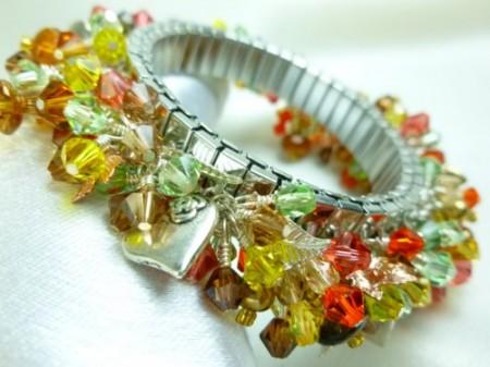 Autumn Crystals Bracelet - Diane Schamp