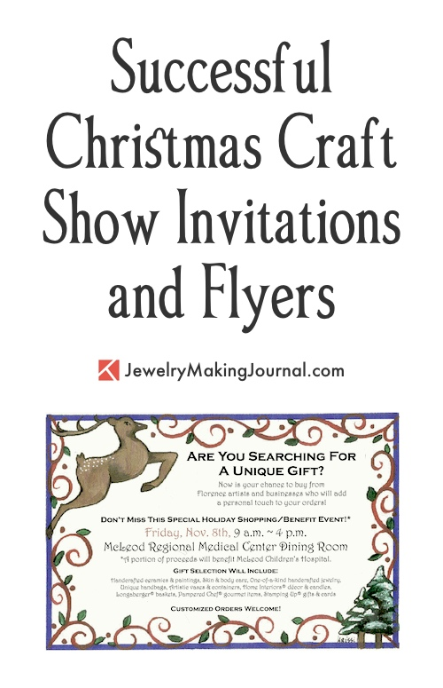 Christmas Craft Show Flyer.Christmas Craft Shows Invitations And Flyers Jewelry