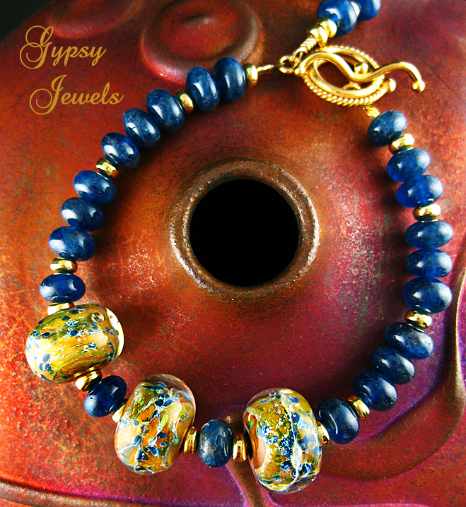 Golden Teal Lampwork