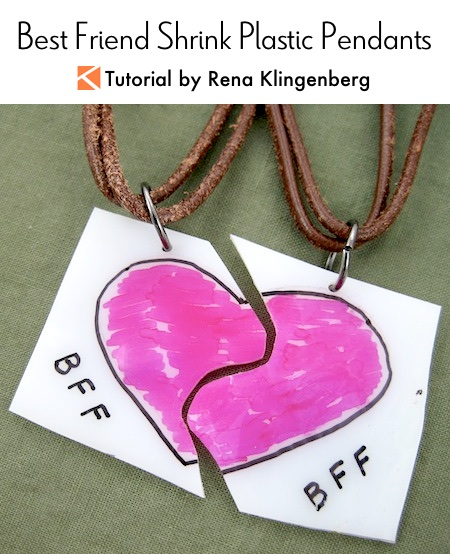 Best Friend Jewelry Shrinkies Tutorial by Rena Klingenberg
