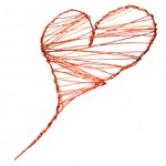 copper wire heart