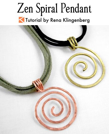 Zen spiral pendant tutorial jewelry making journal zen spiral pendant tutorial by rena klingenberg aloadofball Image collections