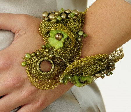 Green Wire Crochet Jewelry Making Journal