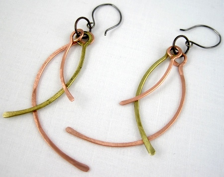 Face-Framing Wire Earrings Tutorial