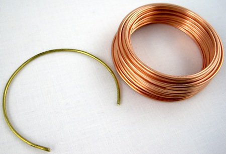 Brass and copper wire