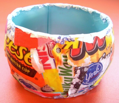 Candy Wrapper Jewelry Candy Wrapper Bangle by Tracy