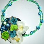 Blue Lagoon Corsage Necklace by Tracy of The Tote Trove