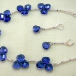 Blue briolette jewelry set by Ricki Ayer