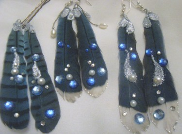 Adorned Blue Jay Feathers