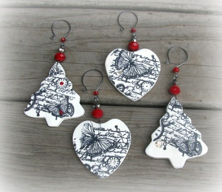 Polymer Clay Christmas Jewelry.Holiday Cheer Jewelry Making Journal