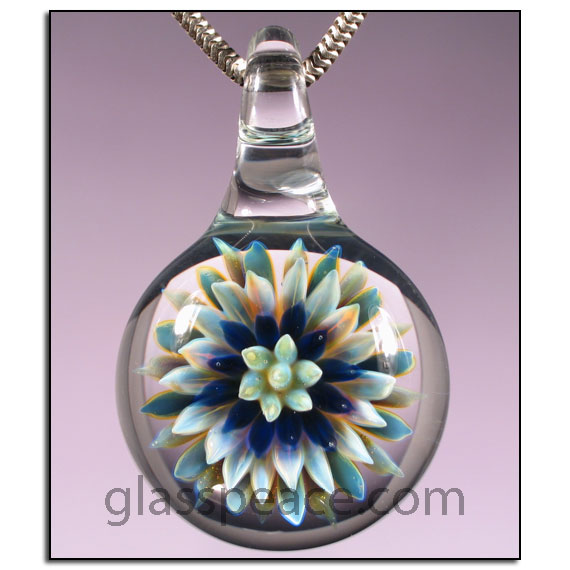Sea Anemone Glass Pendant