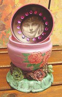 Altered art jewelry jarby Carolina Gonzalez