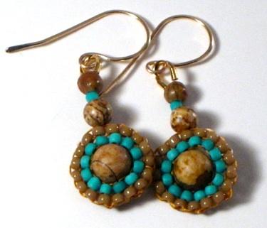 Jasper weave earrings by Dianne Culbertson