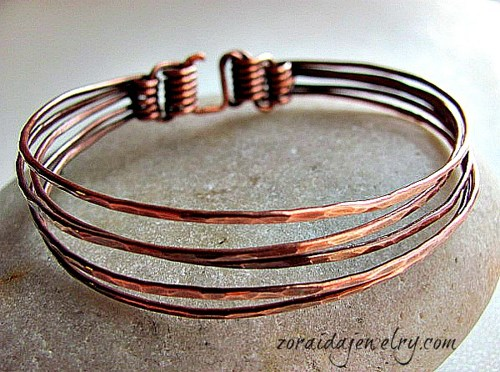 Five in One Copper Bangle