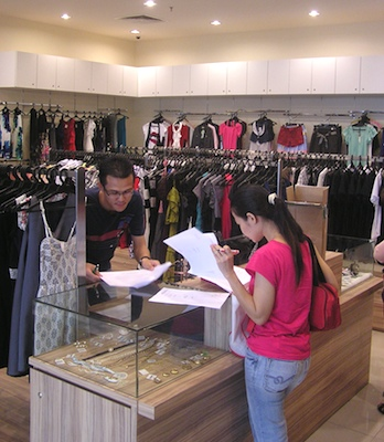 Clothing store sales