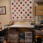 Even in a functional space I like having some of my favorite quilts, art and handmade items around