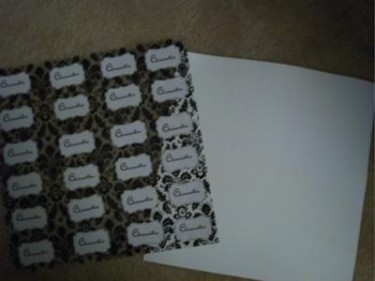scrapbook page, labels, and cardstock