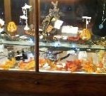 Fall display case designed by Joanne's granddaughter.