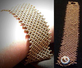 free seed bead patterns, necklace, monogram coaster
