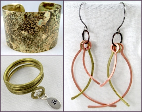 Rena's brass and copper jewelry