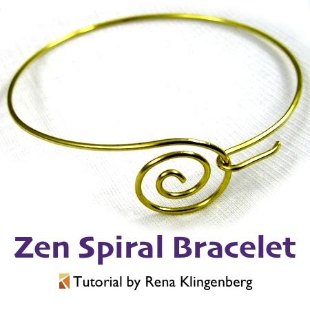 Zen Spiral Bracelet - tutorial by Rena Klingenberg