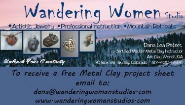 wandering woman business card